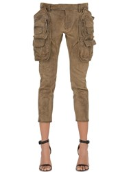 Dsquared Waxed Stretch Cotton Twill Cargo Pants