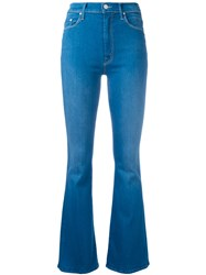 Mother Flared Jeans Women Cotton Polyester Spandex Elastane 26 Blue