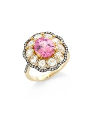Ivy Rose Cut Diamond And Pink Spinel Ring