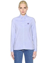 Kenzo Tiger Embroidered Oxford Cotton Shirt