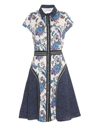 Mary Katrantzou Dunlop Point Collar Printed Dress