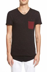 Eleven Paris Men's Elevenparis 'Babico' Stripe Pocket V Neck T Shirt