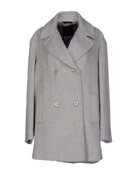 Blue Les Copains Coats And Jackets Coats Women Light Grey