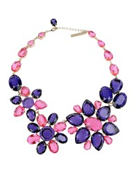 Alberta Ferretti Necklaces Purple