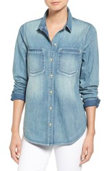 Treasure And Bond Women's Slim Cotton Denim Shirt