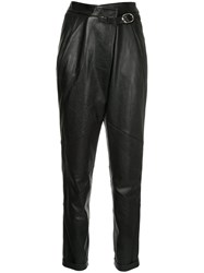 Michel Klein Leather Trousers Lamb Skin Black