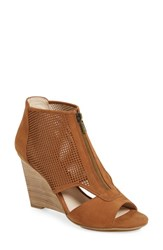Pelle Moda Women's 'Oria' Wedge Bootie Luggage Leather