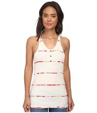 Burton Cedar Tank Bittersweet Watercolor Stripe Women's Sleeveless Gray