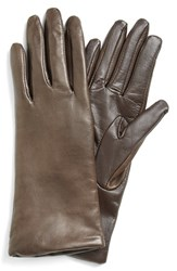 Women's Fownes Brothers 'Basic Tech' Cashmere Lined Leather Gloves Brown