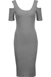 W118 By Walter Baker Cora Cutout Ribbed Stretch Jersey Dress Anthracite