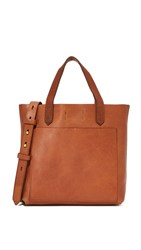 Madewell Mini Pocket Transport Tote English Saddle