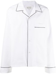 Maison Martin Margiela Contrast Piped Trim Shirt White