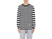Off White C O Virgil Abloh Xo Barneys New York Men's Frame Of Mind Striped Cotton T Shirt Black
