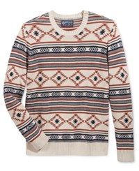 American Rag Men's Chalet Geo Sweater Only At Macy's Oat Hthr