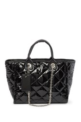 Steve Madden Storm Quilted Medium Tote Bag Black