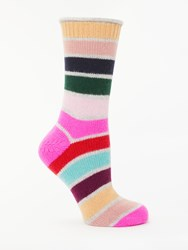 Boden Stripe Cashmere Ankle Socks Multi Stripe