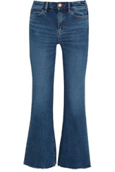 Mih Jeans M.I.H Lou Cropped Mid Rise Flared Mid Denim