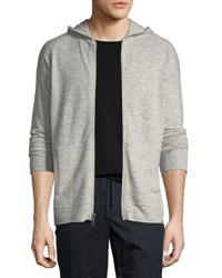 Atm Anthony Thomas Melillo Wool Cashmere Zip Front Hoodie Oxford