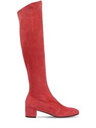 L'autre Chose 30Mm Barbarella Suede Over The Knee Boot Strawberry
