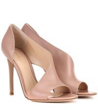 Gianvito Rossi Demi Leather Sandals Neutrals