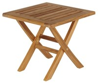 Barlow Tyrie Ascot Folding Footstool Side Table