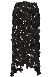 Simone Rocha Metallic Crocheted Midi Skirt Black