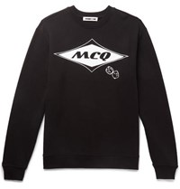 Mcq By Alexander Mcqueen Printed Loopback Cotton Jersey Sweatshirt Black