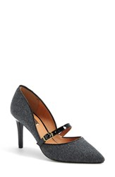 Women's Halogen 'Marci' Mary Jane Pump Grey Flannel Black Patent