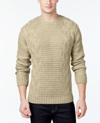 Weatherproof Fisherman Cable Knit Sweater Ivory