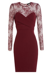 The Kooples Lace Bodice Cocktail Dress Red