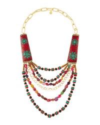 Devon Leigh Tribal Inspired Multi Strand Statement Necklace