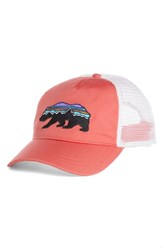 Patagonia Fitz Roy Bear Trucker Hat Red Spiced Coral