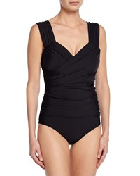 Athena Finesse Ruched One Piece Swimsuit Black