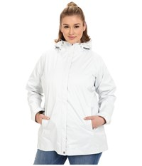 Columbia Plus Size Splash A Little Rain Jacket Sea Salt Lace Print Women's Coat White