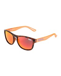 Superdry Rockstar Plastic Universal Fit Square Sunglasses Orange