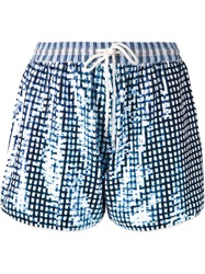 Ashish Gingham Check Sequins Shorts