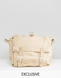 Reclaimed Vintage Satchel In Stone Beige