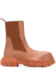 Rick Owens Bozo Tractor Beetle Boots Brown