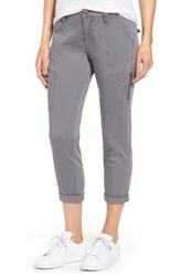 Jag Jeans Women's Gable Stretch Twill Utility Pants Grey Streak