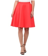 Ted Baker Miloca Skater Pocket Skirt Mid Orange Women's Skirt Red