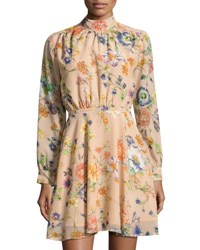 Lucca Couture Madeline Floral Print Dress Neutral Pattern