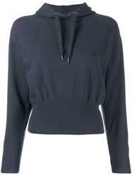 Brunello Cucinelli Hooded Jumper Blue
