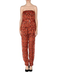 Just Cavalli Pant Overalls Red