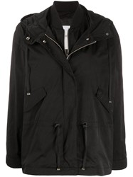 Closed Layered Hooded Jacket 60