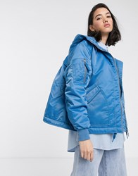 Hunter Original Aline Bomber Coat Blue