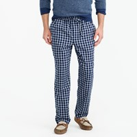 J.Crew Flannel Pajama Pant In Navy Plaid