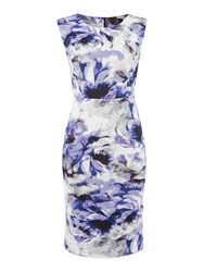 Simon Jeffrey Printed Scuba Dress Purple