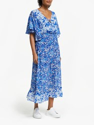 Lily And Lionel Marlowe Forget Me Knot Print Dress Blue