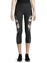 X By Gottex Curved Insert Capri Leggings Black