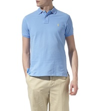 Ralph Lauren Customfit Mesh Polo Shirt Chatham Blue